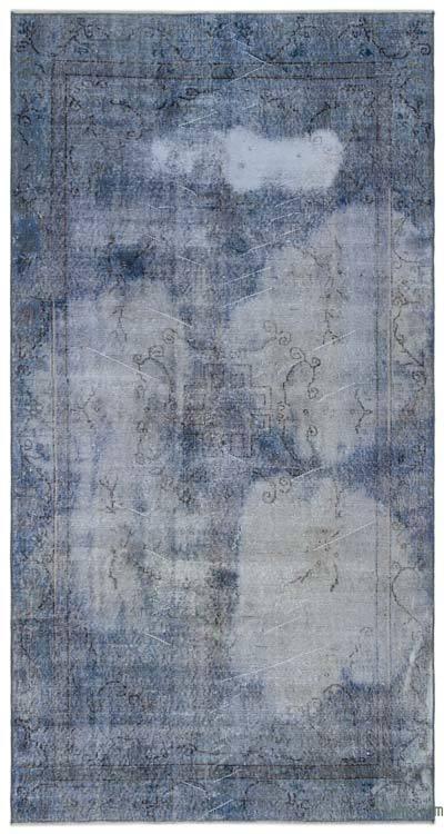 Boyalı El Dokuma Vintage Halı - 157 cm x 290 cm