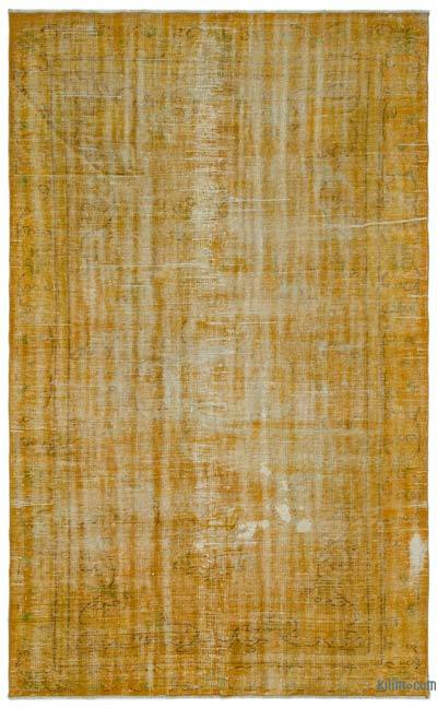 """Over-dyed Turkish Vintage Rug - 5'10"""" x 9'2"""" (70 in. x 110 in.)"""