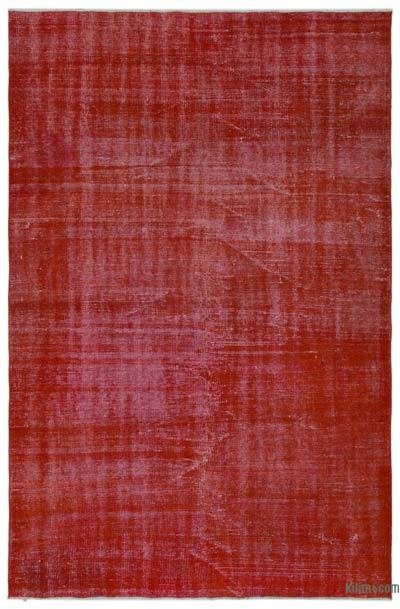 Alfombra Turca Vintage Sobre-teñida - 166 cm x 257 cm