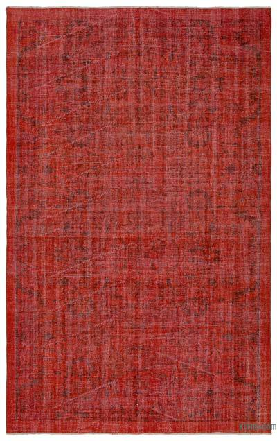 """Over-dyed Turkish Vintage Rug - 5' 1"""" x 8' 3"""" (61 in. x 99 in.)"""