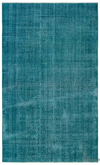 """Over-dyed Turkish Vintage Rug - 5' x 8'4"""" (60 in. x 100 in.)"""