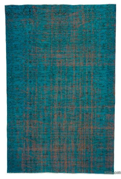 """Over-dyed Turkish Vintage Rug - 5' 2"""" x 7' 11"""" (62 in. x 95 in.)"""