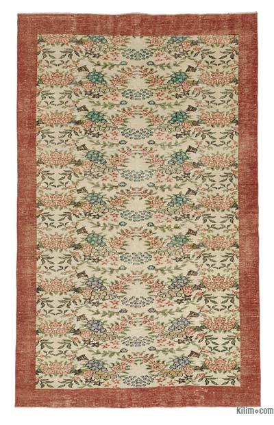 """Turkish Vintage Area Rug - 6'3"""" x 10'1"""" (75 in. x 121 in.)"""