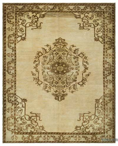 "Over-dyed Turkish Vintage Rug - 7' 11"" x 9' 8"" (95 in. x 116 in.)"