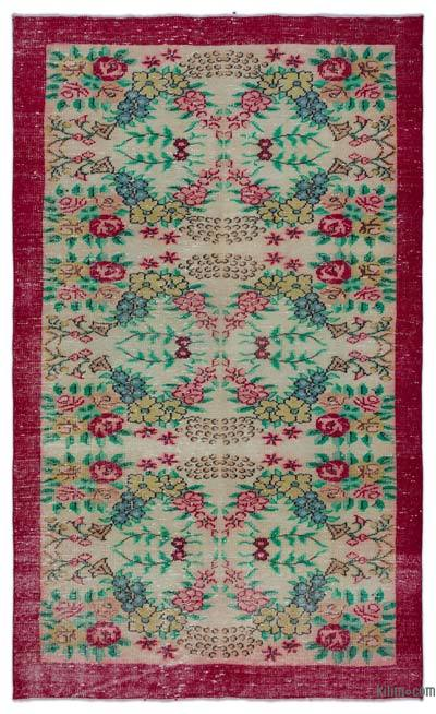 "Turkish Vintage Area Rug - 5' 4"" x 8' 11"" (64 in. x 107 in.)"