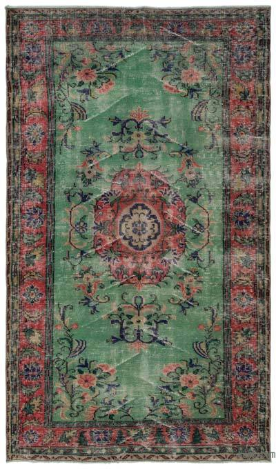 """Turkish Vintage Area Rug - 4'9"""" x 8'6"""" (57 in. x 102 in.)"""