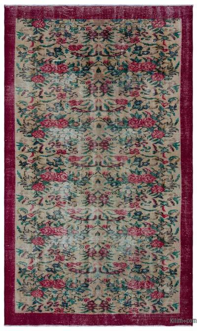 """Turkish Vintage Area Rug - 4' 11"""" x 8' 6"""" (59 in. x 102 in.)"""