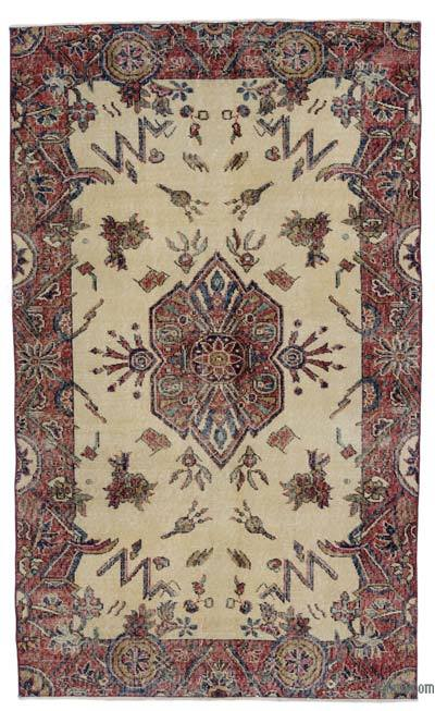 "Turkish Vintage Area Rug - 4' x 6'8"" (48 in. x 80 in.)"