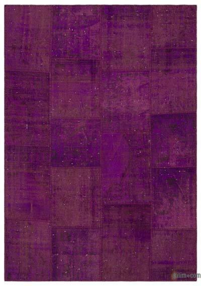 Alfombra De Retazos Turca Sobre-teñida - 160 cm x 230 cm