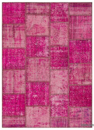"Over-dyed Turkish Patchwork Rug - 5' 3"" x 7' 7"" (63 in. x 91 in.)"