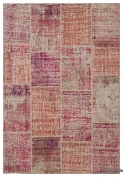 Alfombra De Retazos Turca Sobre-teñida - 160 cm x 233 cm