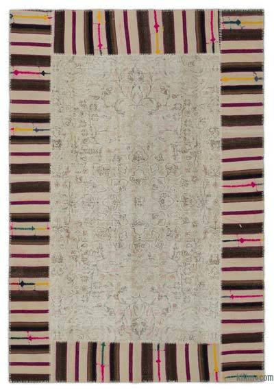 "Turkish Patchwork Rug - 6'2"" x 9'1"" (74 in. x 109 in.)"