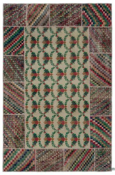 "Turkish Patchwork Rug - 6'4"" x 9'7"" (76 in. x 115 in.)"