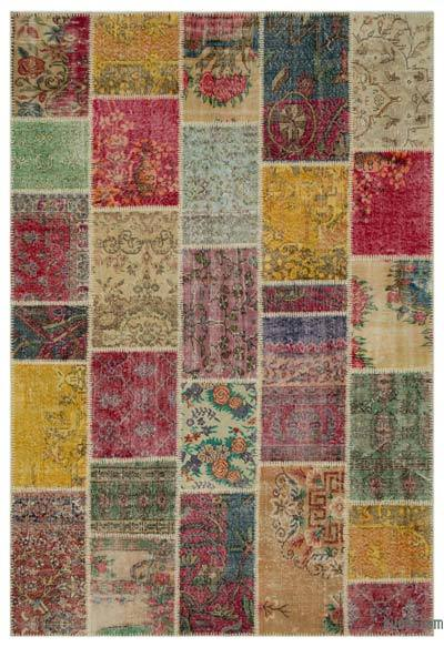 "Turkish Patchwork Rug - 6'3"" x 9'3"" (75 in. x 111 in.)"