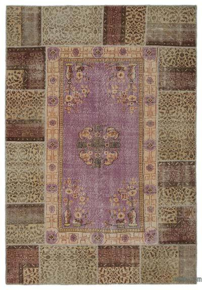 "Turkish Patchwork Rug - 6' 1"" x 8' 10"" (73 in. x 106 in.)"