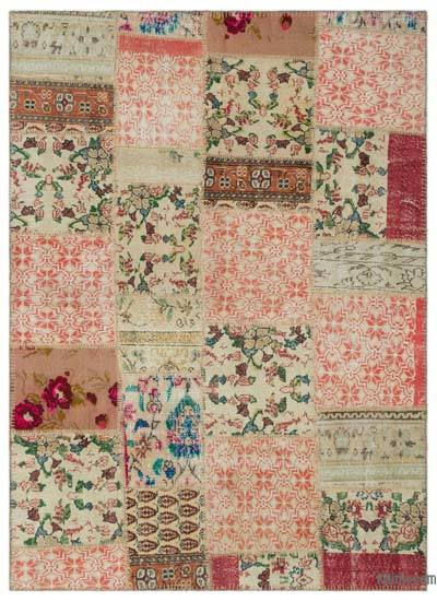 "Turkish Patchwork Rug - 5' 3"" x 7' 7"" (63 in. x 91 in.)"