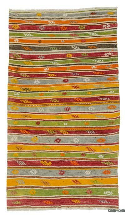 Alfombra Vintage Fethiye Kilim - 128 cm x 226 cm