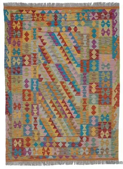 "New Afghan Kilim Rug - 4'11"" x 6'7"" (59 in. x 79 in.)"