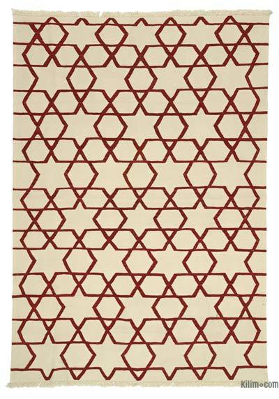 "New Handwoven Turkish Kilim Rug - 7'1"" x 10'1"" (85 in. x 121 in.)"