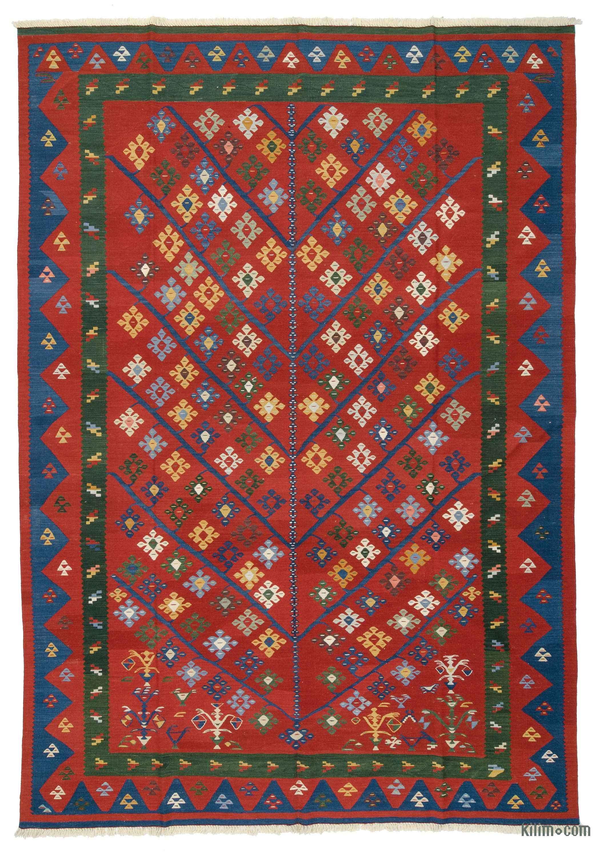 Turkish Kilim 6.1x5.7 ft Kilim Rug Handmade Rug Vintage Kilim Home Decor Kilim Handmade Kilim Bohemian Kilim