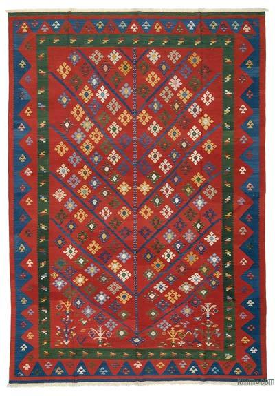 "New Handwoven Turkish Kilim Rug - 8'  x 11' 7"" (96 in. x 139 in.)"
