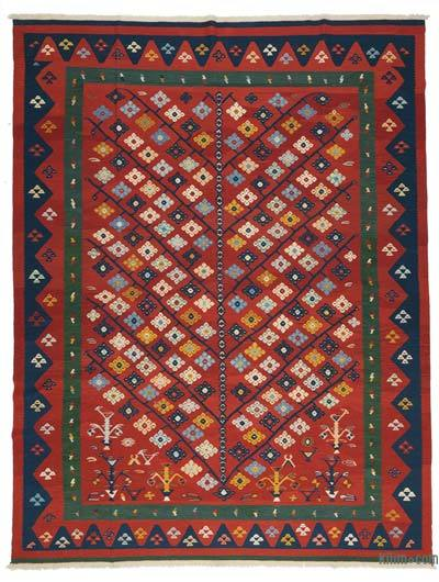 "New Handwoven Turkish Kilim Rug - 9'11"" x 12'9"" (119 in. x 153 in.)"
