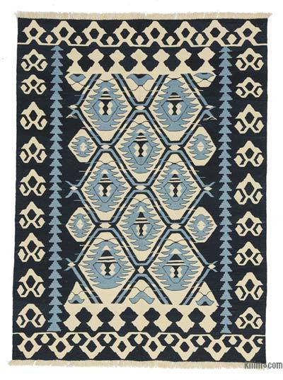 "New Handwoven Turkish Kilim Rug - 5' 7"" x 7' 8"" (67 in. x 92 in.)"