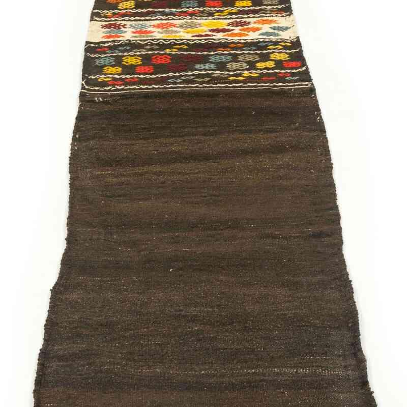 Kahverengi Anadolu Yolluk Kilim - 64 cm x 230 cm - K0027719