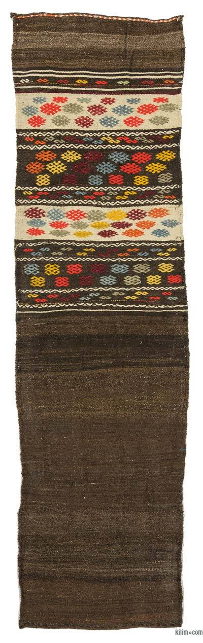 "Vintage Turkish Kilim Runner - 2' 1"" x 7' 7"" (25 in. x 91 in.)"