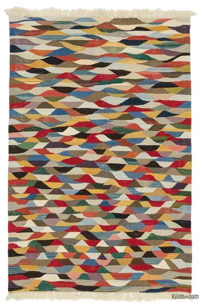 "New Handwoven Turkish Kilim Rug - 4'  x 6' 1"" (48 in. x 73 in.)"