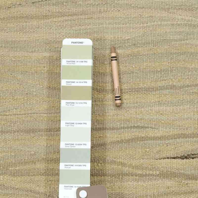 "Beige New Handwoven Turkish Kilim Rug - 3' 3"" x 5' 1"" (39 in. x 61 in.) - K0027785"