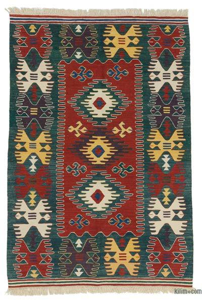 "New Handwoven Turkish Kilim Rug - 4'1"" x 6' (49 in. x 72 in.)"