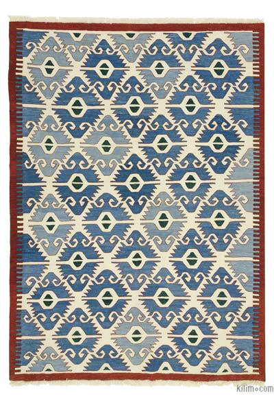 "New Handwoven Turkish Kilim Rug - 6' 9"" x 9' 4"" (81 in. x 112 in.)"