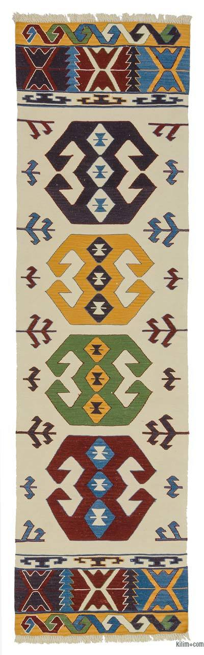 "New Turkish Kilim Runner - 2'9"" x 9'11"" (33 in. x 119 in.)"
