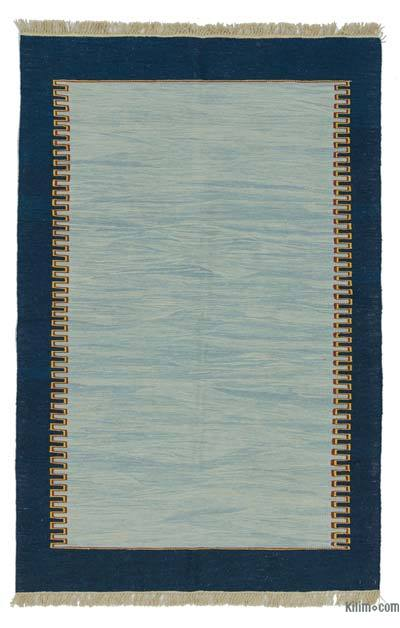 "New Handwoven Turkish Kilim Rug - 3'11"" x 6'2"" (47 in. x 74 in.)"