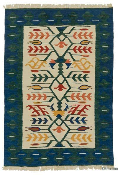 "New Handwoven Turkish Kilim Rug - 4'  x 5' 9"" (48 in. x 69 in.)"
