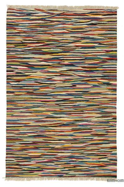 """New Handwoven Turkish Kilim Rug - 4'1"""" x 6' (49 in. x 72 in.)"""