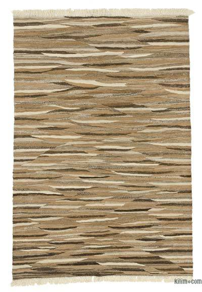 """New Handwoven Turkish Kilim Rug - 4' 2"""" x 6'  (50 in. x 72 in.)"""