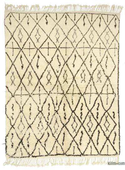 "Beige New Turkish Tulu Rug - 6' 4"" x 8' 1"" (76 in. x 97 in.)"