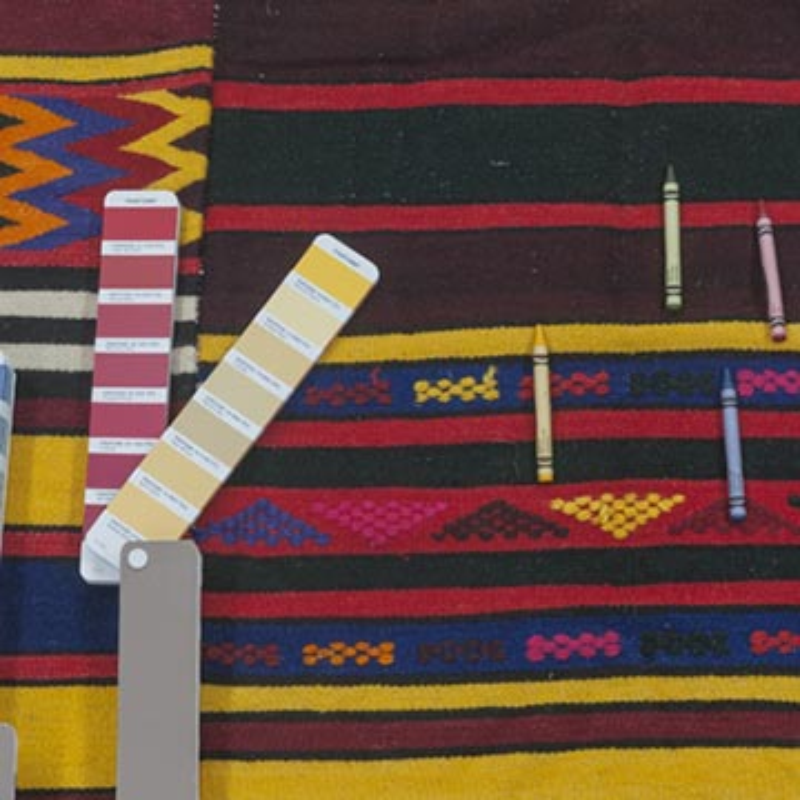 Multicolor Alfombra Vintage Eskisehir Kilim - 160 cm x 324 cm - K0027842