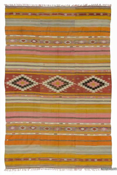"Vintage Turkish Kilim Rug - 5' 6"" x 8'  (66 in. x 96 in.)"