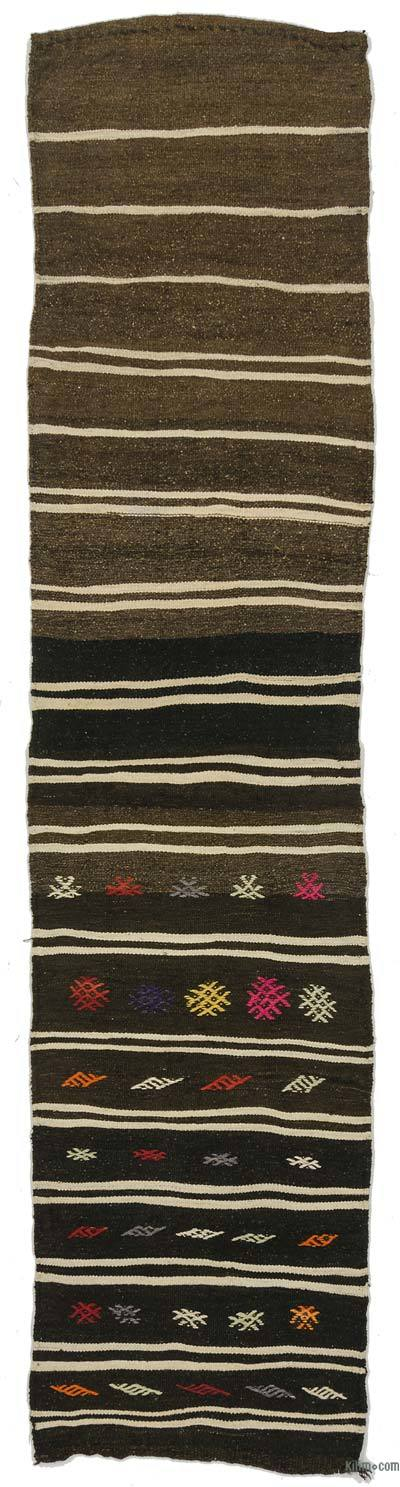 "Vintage Turkish Kilim Runner - 2'1"" x 9'1"" (25 in. x 109 in.)"