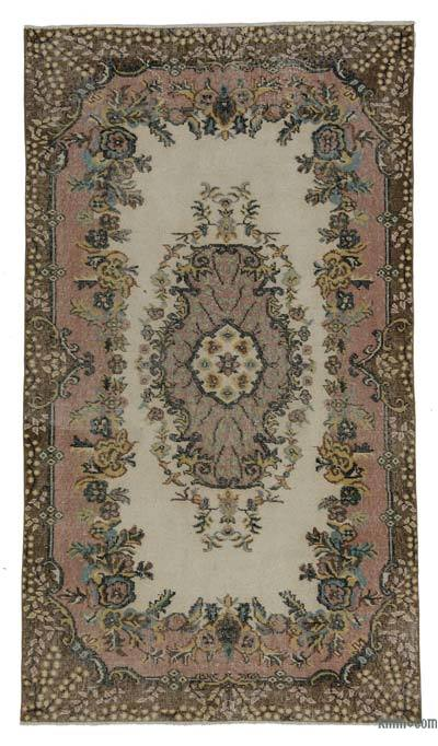 """Turkish Vintage Area Rug - 3'10"""" x 6'10"""" (46 in. x 82 in.)"""
