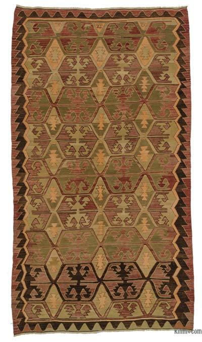 """Vintage Konya Kilim Rug - 5' 11"""" x 10' 5"""" (71 in. x 125 in.)"""