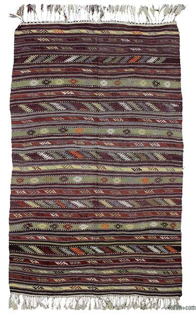 """Vintage Antalya Kilim Rug - 3'11"""" x 6'3"""" (47 in. x 75 in.)"""