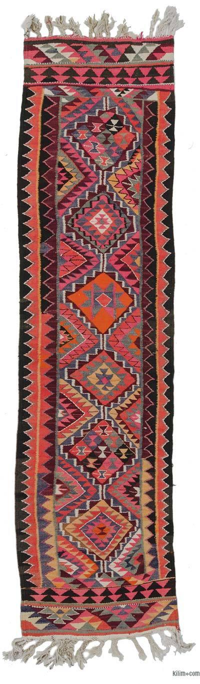 Corredor Vintage Herki Kilim - 83 cm x 329 cm