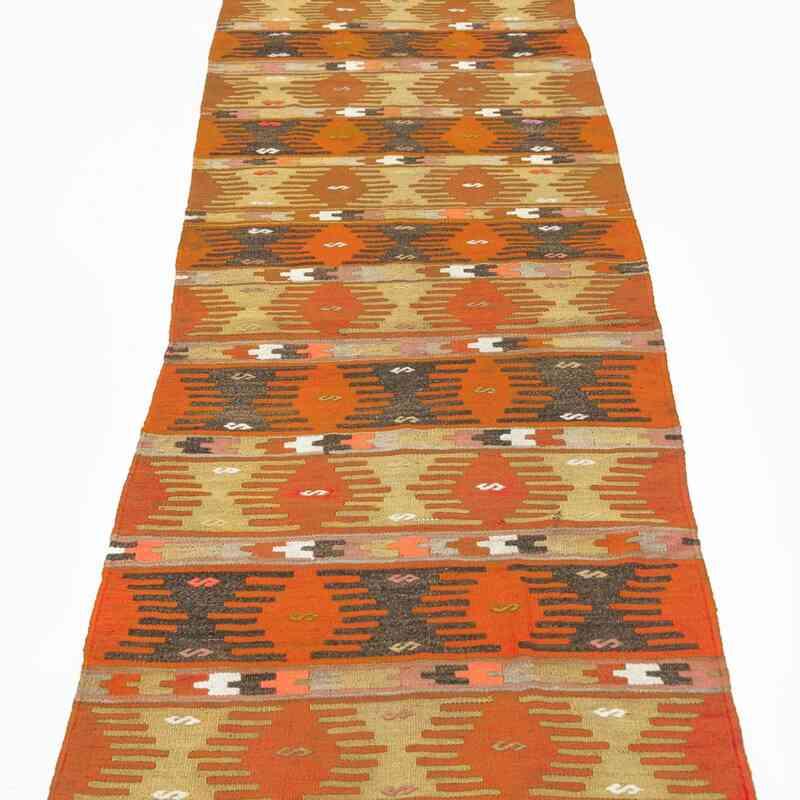 """Multicolor Vintage Sivas Kilim Runner - 2' 7"""" x 13'  (31 in. x 156 in.) - K0028109"""