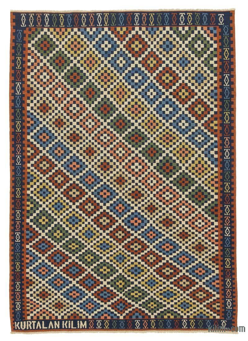 Çok Renkli Yeni Kök Boya El Dokuma Kilim - 161 cm x 230 cm - K0028172