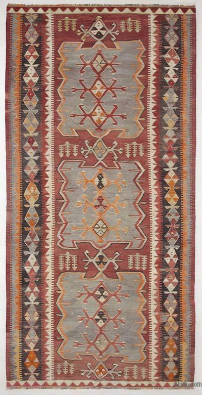 """Vintage Konya Kilim Rug - 5' 1"""" x 10' 4"""" (61 in. x 124 in.)"""