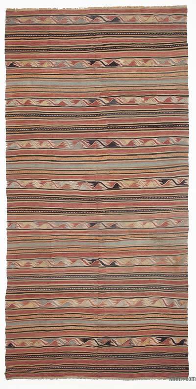 """Vintage Konya Kilim Rug - 4'5"""" x 9'2"""" (53 in. x 110 in.)"""